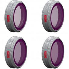 Набор фильтров HD для DJI MAVIC 2 ZOOM (ND8/PLND16/PLND32/PLND64) PROFESSIONAL, PGYTECH P-HA-043