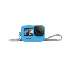Силиконовый чехол синий с ремешком для камеры HERO9 Black