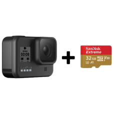 GoPro HERO8 Black + SanDisk Extreme 32gb (CHDHX-801-RW)