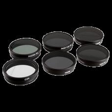 PolarPro Набор фильтров для DJI  Phantom 3/4  6-штук  (PL1,ND8, ND16, ND32, ND8/PL, ND16/PL) (P5002)