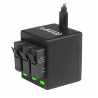 Зарядное устройство ShelngKa на 3 аккумулятора для GoPro 5/6/7/8 Black