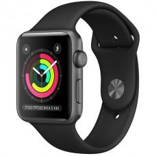 Смарт-часы Apple Watch S3 42mm Space Grey Al/Black Sport Band (MTF32)