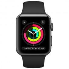 Смарт-часы Apple Watch S3 38mm Space Grey Al/Black Sport Band (MTF02)