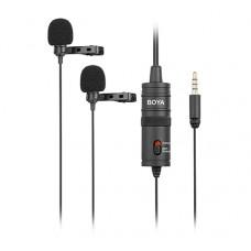 Boya BY-M1DM микрофон  двойной петличный со стереоразъемом