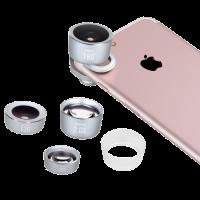 Momax X-Lens Pro Kit - набор объективов для смартфона Серебро