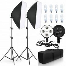 Комплект постоянного света светодиодный с софтбоксами EC01 24ВТ